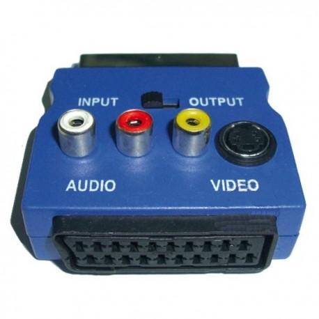 Adattatore Scart RGB a RCA AV S-VIDEO Switch 20 Pin