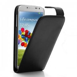 Custodia Pelle per Samsung I9505 Galaxy S4 Black
