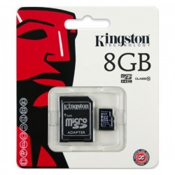 Kingston Micro SDHC 8 GB Class 10 - SDC10/8GB