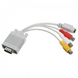 Cavo Convertitore VGA a RCA TV e S-Video AV