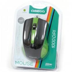 Mouse Omega OM05G 3D Optical 1000DPI USB Green