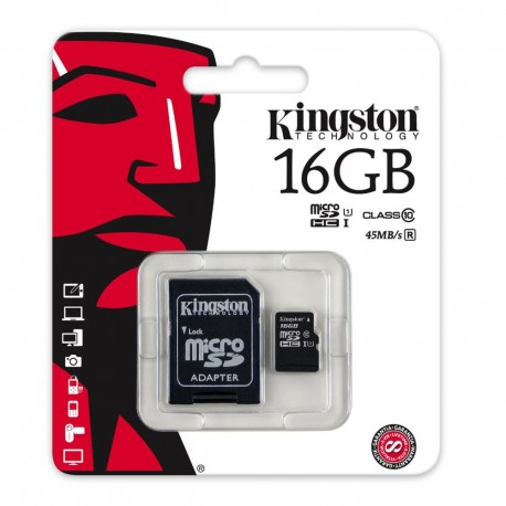 Kingston Micro SDHC 16 GB Class 10 - SDC10G2/16GB