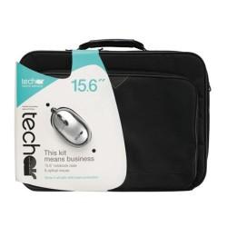 """Tech-Air borsa NB 15,6"""" Nera con Mouse Ottico black/silver (TABUN29MV3)"""