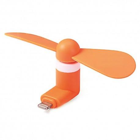 Mini Fan per iPhone con presa  Lightning Orange