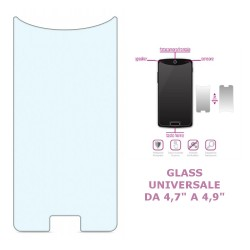 """Feder FGLU003 Glass universale da 4,7"""" a 4,9"""" in vetro temperato"""