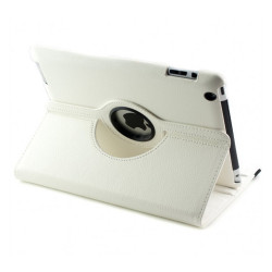 Cover custodia iPad 2, 3, 4 compatibile ecopelle 360° White