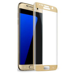 Full Screen Protector per Samsung S7 Edge Gold