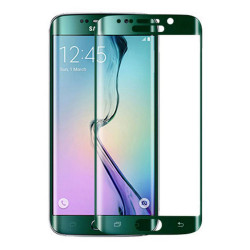 Full Screen Protector per Samsung S6 Edge Green