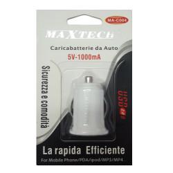 Maxtech MA-C004 Caricatore da auto USB White