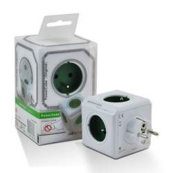 Allocacoc PowerCube Original Type E Kelly Green