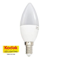 KODAK 70001-EU-2700 LAMPADINA LED SMD 6W E14 OLIVA TORPEDO
