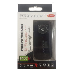 Maxtech PA-TM003 PowerBank 6400mAh Black
