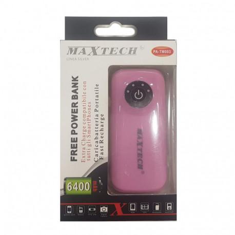 Maxtech PA-TM003 PowerBank 6400mAh Pink