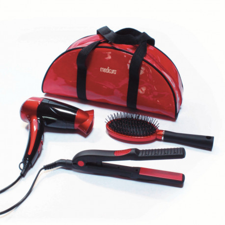 Ardes asciugacapelli ARM350 + Beauty Set con piastra, spazzola e borsa