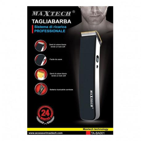Maxtech TA-BA001 tagliabarba elettrico, nero