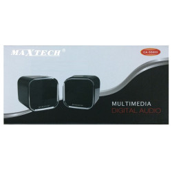 Maxtech CA-SS003 Black Speaker PC, smartphone e tablet