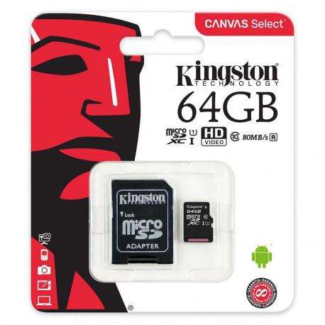 Kingston Micro SDXC 64 GB Class 10 - SDCS/64GB