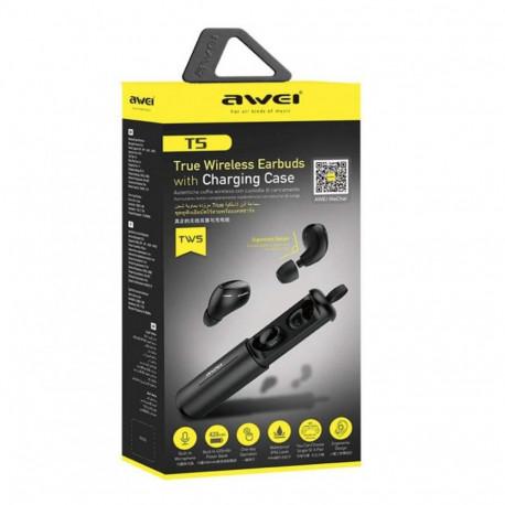 Awei T5 TWS Blutooth 5.0 True Wireless Earbuds Black