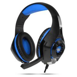 Crown CMGH-101T Cuffie Gaming con microfono incorporato, Blu