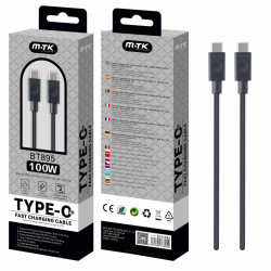 M-TK (BT895) cavo dati USB-C M/M, Black