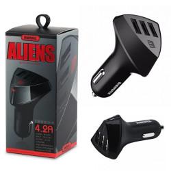 Remax RC-C304 Aliens, caricabatterie per auto, Black