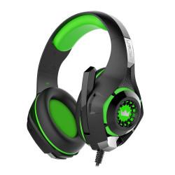 Crown CMGH-101T Cuffie Gaming con microfono incorporato, Verde