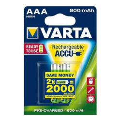 Varta Ready To Use HR03 Batterie Ministilo Ricricabili 1,2V da 800mAh