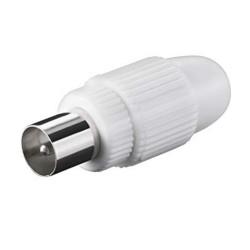 Spina Coassiale IEC 9,5mm a vite bianco