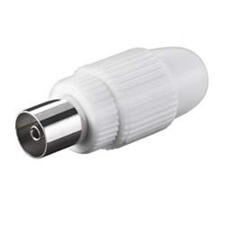 Presa Coassiale IEC 9,5mm a vite bianco