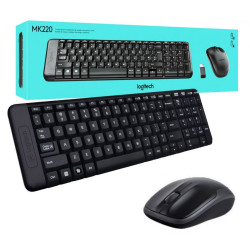 Logitech MK220 Tastiera e Mouse Wireless