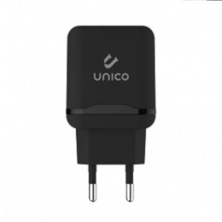 Unico HC1141 Caricabatteria Rapido USB 2.4A, Black