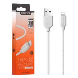 Borofone BX14 Cavo Lightning - USB 2.4A (1m) White