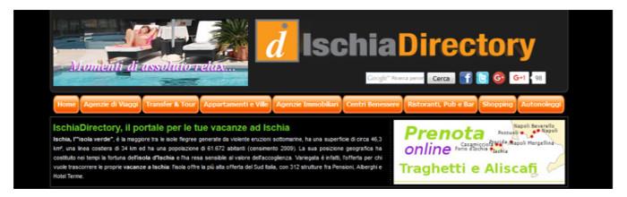 IschiaDirectory, portale turistico dell'isola d'Ischia